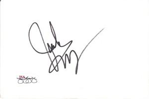Jack Wagner autographed 4x6 inch index card (JSA)