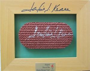 Jackie Joyner-Kersee autographed 1996 Atlanta Olympics track piece