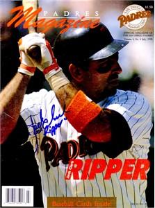 Jack Clark autographed 1990 San Diego Padres magazine