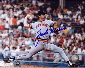 Jack Morris autographed Detroit Tigers 8x10 photo (Mounted Memories)