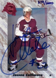 Jassen Cullimore certified autograph 1991 Classic card