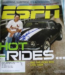 Jason Isringhausen autographed St. Louis Cardinals ESPN Magazine