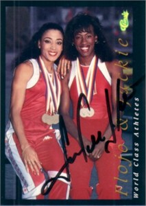 Jackie Joyner-Kersee (track) autographed 1992 Classic World Class Athletes card