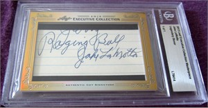 Jake LaMotta certified autograph 2012 Leaf Executive Masterpiece Cut Signature card #1/1