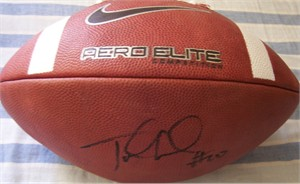 Jake Locker autographed Nike Aero Elite leather football