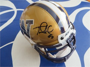 Jake Locker & Marques Tuiasosopo autographed Washington Huskies mini helmet