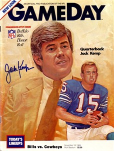 Jack Kemp autographed Buffalo Bills 1984 GameDay program