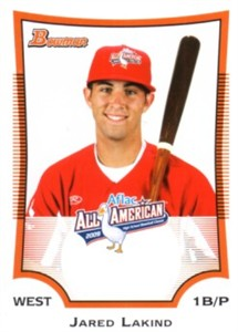 Jared Lakind 2009 AFLAC Bowman Rookie Card