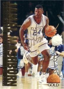 Jamal Mashburn Kentucky Wildcats certified autograph 1993 Classic Gold card #/9500