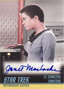 Janet MacLachlan Star Trek certified autograph card