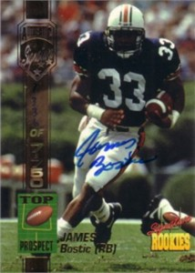 James Bostic Auburn certified autograph 1994 Signature Rookies card