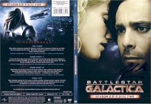 James Callis autographed Battlestar Galactica DVD cover insert