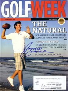 Jamie Lovemark autographed 2011 Golfweek magazine