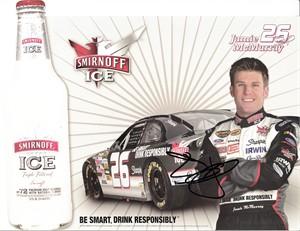 Jamie McMurray autographed NASCAR photo card