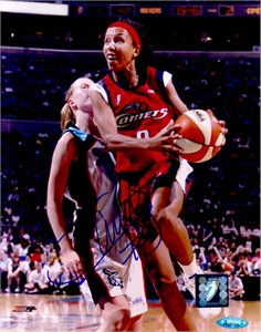 Janeth Arcain autographed WNBA Houston Comets 8x10 photo