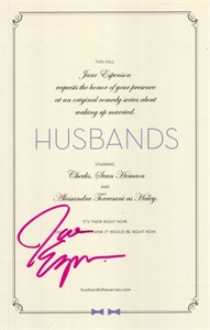Jane Espenson autographed Husbands promo card