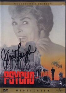 Janet Leigh autographed Psycho movie DVD cover