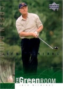 Jack Nicklaus 2002 Upper Deck golf Green Room insert card