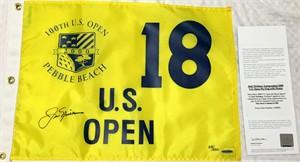 Jack Nicklaus autographed 2000 U.S. Open golf pin flag ltd. edit. 500 (UDA)