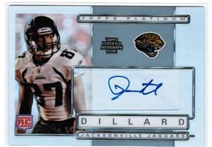 Jarett Dillard certified autograph 2009 Topps Platinum Rookie Card #820/1050
