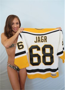 Jaromir Jagr Pittsburgh Penguins white CCM semi authentic jersey NEW