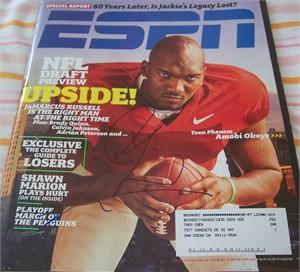 JaMarcus Russell autographed 2007 ESPN Magazine