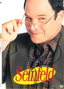 Jason Alexander autographed Seinfeld DVD insert cover