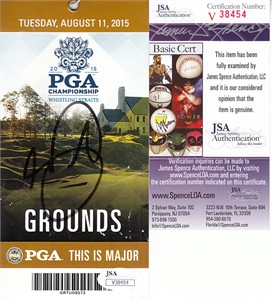 Jason Day autographed 2015 PGA Championship ticket