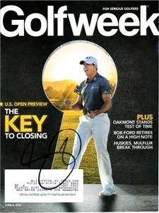 Jason Day autographed 2014 Golfweek magazine