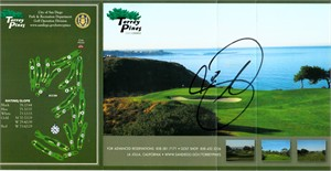 Jason Day autographed Torrey Pines golf scorecard