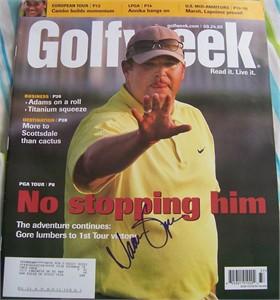 Jason Gore autographed 2005 Golfweek magazine