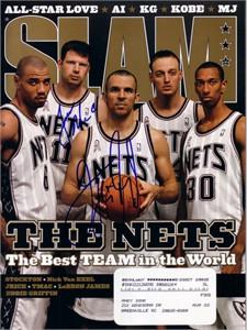 Jason Kidd & Todd MacCulloch autographed New Jersey Nets 2002 SLAM magazine
