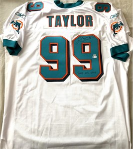 Jason Taylor Miami Dolphins authentic Nike team issued 1999 or 2000 white stitched jersey