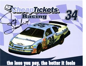 Jay Sauter autographed NASCAR 8x10 photo card