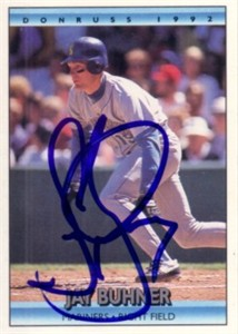 Jay Buhner autographed Seattle Mariners 1992 Donruss card