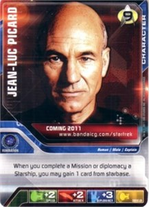 Star Trek Deck Building Game (DBG) or Collectible Card Game (CCG) 2011 promo card (Jean-Luc Picard)