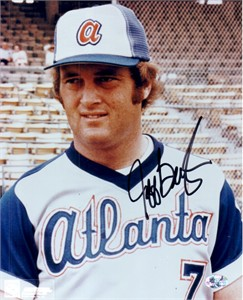 Jeff Burroughs autographed Atlanta Braves 8x10 photo