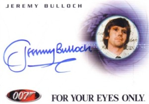 Jeremy Bulloch certified autograph James Bond 007 card