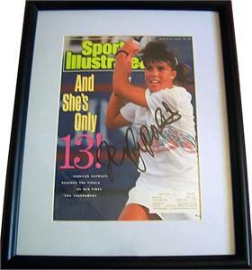 Jennifer Capriati autographed 1990 Sports Illustrated cover matted & framed