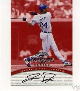 Jermaine Dye certified autograph Kansas City Royals 1998 Donruss card