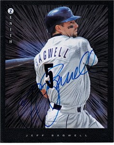 Jeff Bagwell autographed Houston Astros 1997 Zenith 8x10 photo card