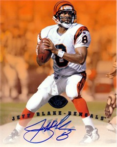 Jeff Blake autographed Cincinnati Bengals 8x10 photo card