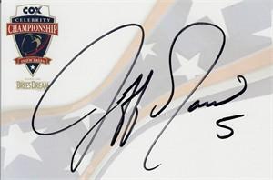 Jeff Garcia autographed 4x6 signature card
