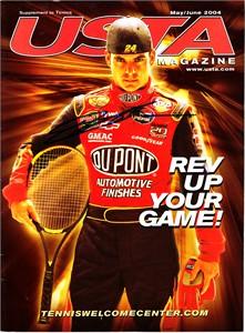 Jeff Gordon autographed 2004 USTA magazine