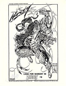 Jeff Matsuda autographed Warcry Brigade comic book art print