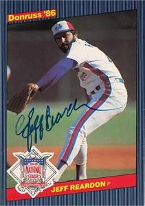 Jeff Reardon autographed Montreal Expos 1986 Donruss All-Stars jumbo card