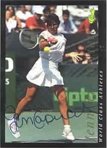 Jennifer Capriati certified autograph 1992 Classic tennis card