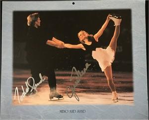 Jenni Meno & Todd Sand autographed U.S. Figure Skating calendar page