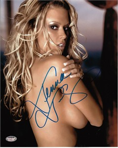 Jenna Jameson autographed sexy 8x10 portrait photo (Schwartz Sports)