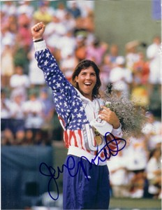 Jennifer Capriati autographed 1992 Olympic tennis gold medal full page magazine photo